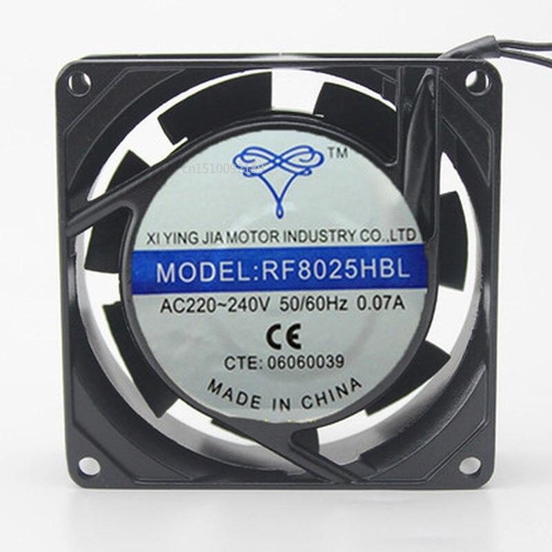 For Double Ball Bearing AC220V 8025 RF8025HBL Fan 80*80*25mm Fan Free Shipping