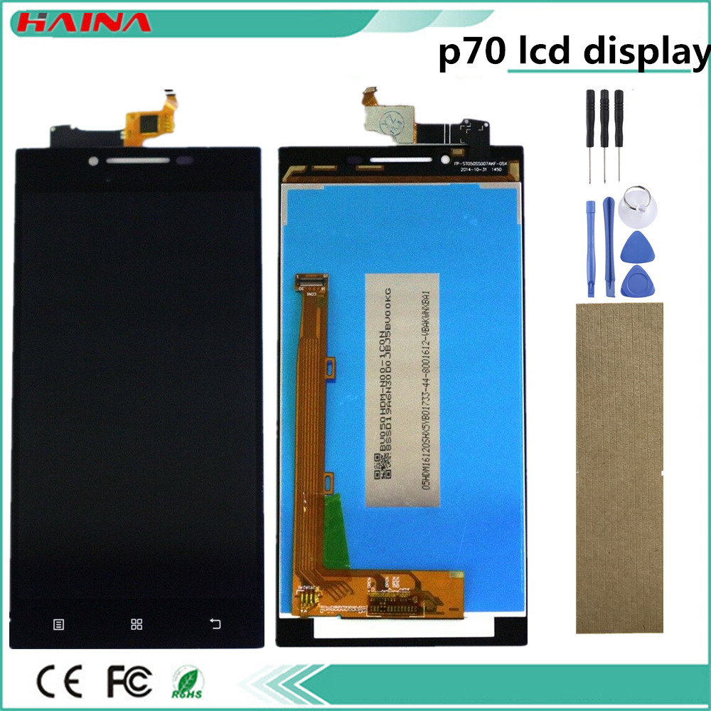 5.0inch For <font><b>Lenovo</b></font> <font><b>P70</b></font> LCD <font><b>Display</b></font> Touch Screen Digitizer Assembly For <font><b>Lenovo</b></font> <font><b>P70</b></font> <font><b>Display</b></font> with Frame <font><b>P70</b></font>-A <font><b>P70</b></font>-T LCD Replacement image