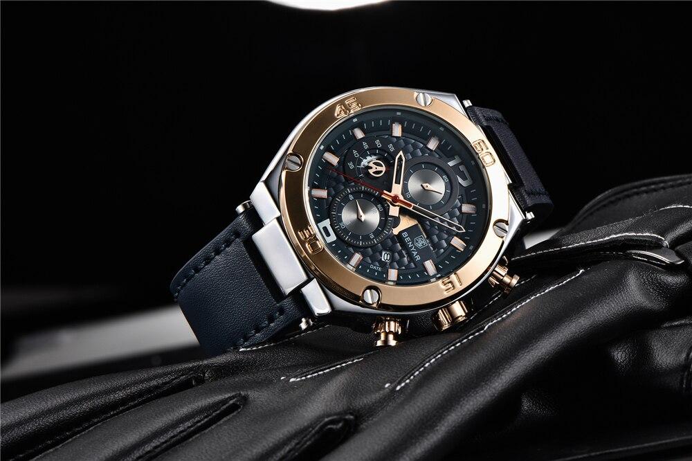 Benyar 2019 novos relógios de quartzo dos