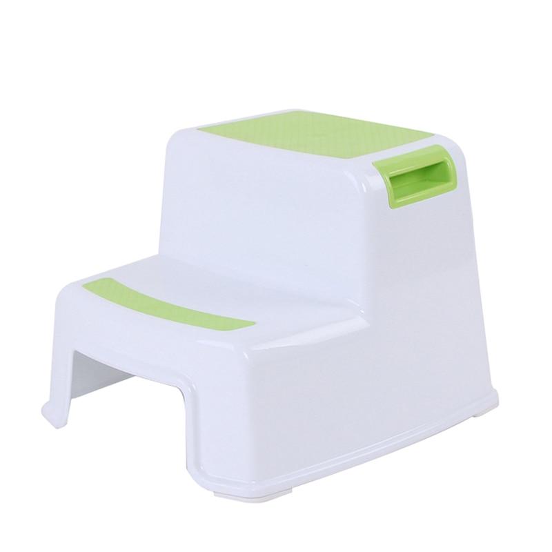 Toilet Potty Training Kids 2 Step Stools Toddler Non-Slip Bathroom Potty Stool TN88