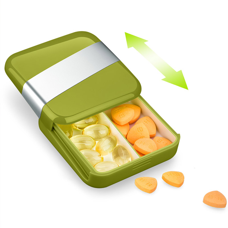 Pill Box Case First Aid Medicine Storage Portable Splitter Tablet Container Pill Organizer Safe Food Grade Plastic Travel