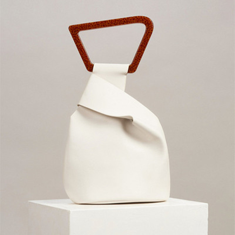 Women Bag Irregular Acrylic Handle Women Handbags High Quality Solid Women HandBags Designer Bags Euro-American Style