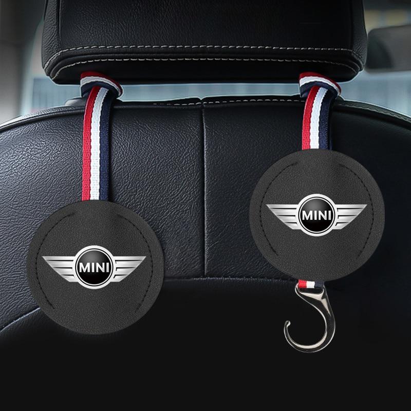 1PCS Car Hook Seat Hook Back Seat Headrest Hanger Storage Hooks For Mini Cooper Countryman Clubman F54 F56 F55 F60 R60 R61