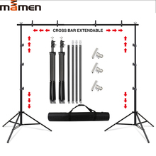 MAMEN Photography Background Backdrop Green Screen Support Stand System Kit For Photo Studio Metal background With Carry Bag