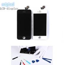 Высококачественный Оригинальный дисплей Восстановленный ЖК сенсорный экран для iPhone SE 5s 6 6s 7 8 черный белый дигитайзер в сборе Замена