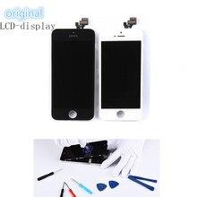 גבוהה איכות מקורי תצוגת משופץ LCD מגע מסך עבור iPhone SE 5S 6 6s 7 8 שחור לבן digitizer עצרת החלפה