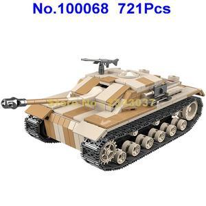 Image 5 - 721 pièces ww2 militaire allemagne réservoir militaire seconde guerre mondiale réservoir 2 soldat arme armée blocs de construction jouet