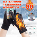 Зимние велосипедные перчатки для улицы для мужчин и женщин Guantes -30 ℃ водонепроницаемые ветрозащитные теплые бархатные устойчивые к холоду ...