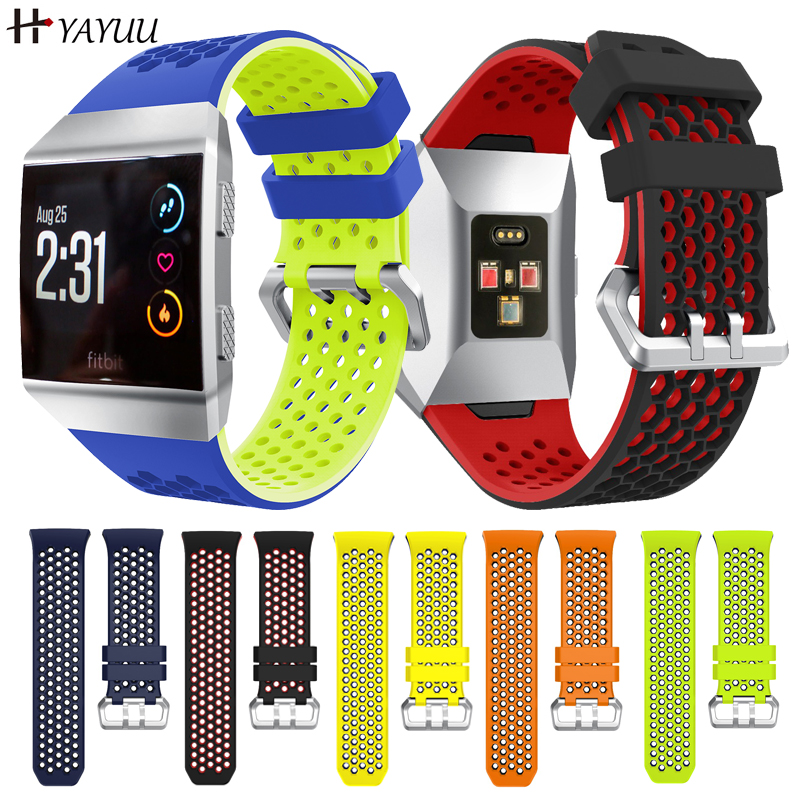 YAYUU Silicone Wrist Strap For Fitbit Ionic Smart Watch Band Breathable Replacement Watch Strap For Fitbit Ionic Bracelet