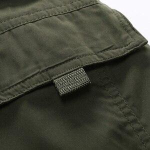 Image 5 - Uomini Cargo Pant Inverno Caldo di Spessore Pantaloni di Lunghezza Completa Multi Tasca Elastico In Vita Pile Foderato Larghi Militare Tattico Pantaloni di Sesso Maschile