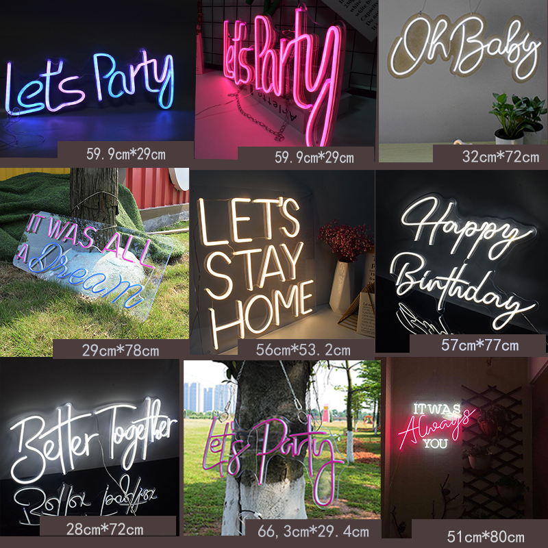 Custom Neon Sign Personalizedy  12V Dimmable Decoration Transparen Acrylic  3D Flex Led Light Home Ins Wall Decor  Room Wall