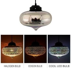 Image 3 - Lámpara colgante con pantalla de cristal colgante de cielo estrellado romántico colorido 3D moderno, accesorio de luces E27 para dormitorio, restaurante y sala de estar