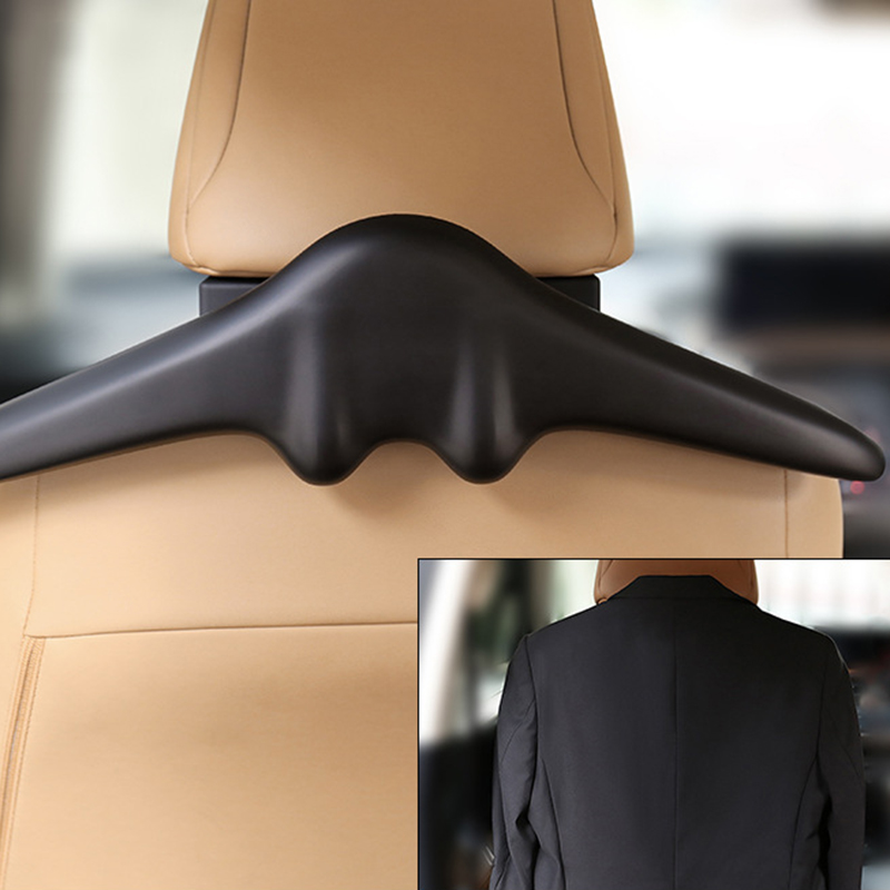 Top Soft PU Leather Car Coat Hangers Hangers For Suit Coat Jacket Back Seat Headrest Clothes Hanger Safety Handle Hanging Hook