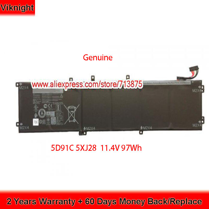 Genuine 11.4V 97Wh 05041C 5D91C 5XJ28 Battery for for Dell XPS 15 9560 9550 9570 M5510 6GTPY H5H20 5520 5530 M5520 M5530 image
