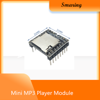 Official Smarian Mini MP3 Player Module TF Card U Disk Mini MP3 Player Audio Voice Module Board For Arduino DF Play image