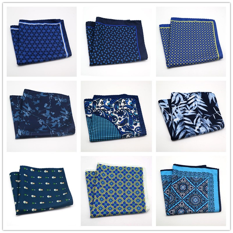 32*32CM Thin Soft Wedding Party Handkerchief Business Polyester Silk Flower Paisley Pocket Square Big Hanky Accessories Towel