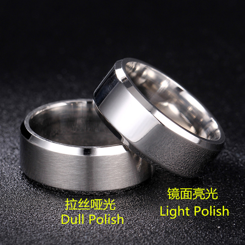 Classic 8mm Rotatable Basic Ring for Men Black/Gold Stainless Steel Casual Male Anel Stylish Punk Spinner Alliance Sports Jewely|Rings| - AliExpress