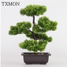 シミュレーション松葉ヒノキ植物盆栽人工植物ポットインテリアホームリビングルームクリエイティブ装飾