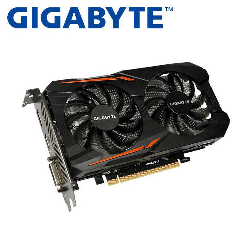 جيجابايت بطاقة جرافيكس GTX1050 CN بطاقة فيديو بطاقات gtx 128 بت 1050 GPU 2GB GDDR5 مع NVIDIA غيفورسي ل PC تستخدم بطاقة
