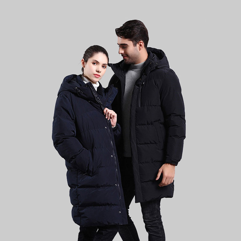 Новинка 2019, мужское хлопковое пальто, Мужская зимняя длинная куртка с капюшоном, свободная повседневная Толстая черная куртка, больше разме... - 5