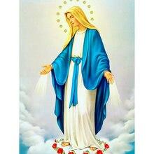 Diy картина по номерам Религия масла Раскраска Мария 40 х 50