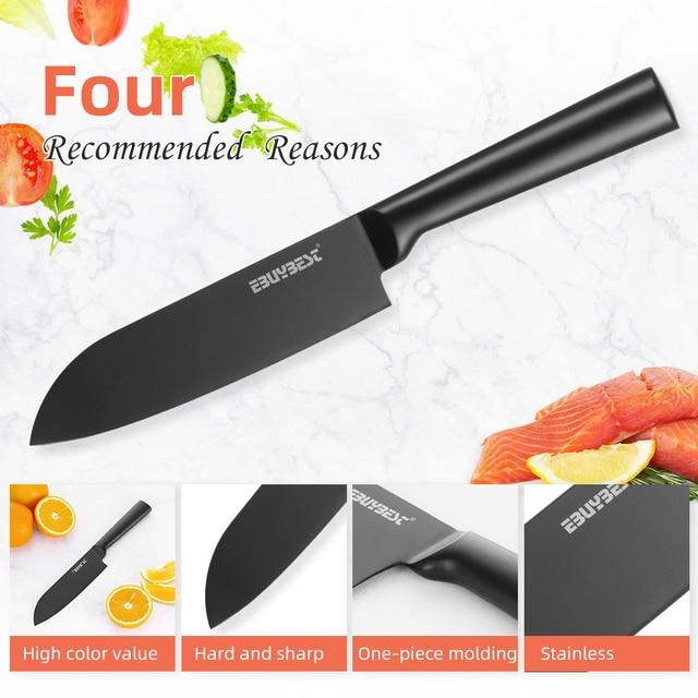 Japanese Kitchen Knife Set Stainless Steel  5 4
