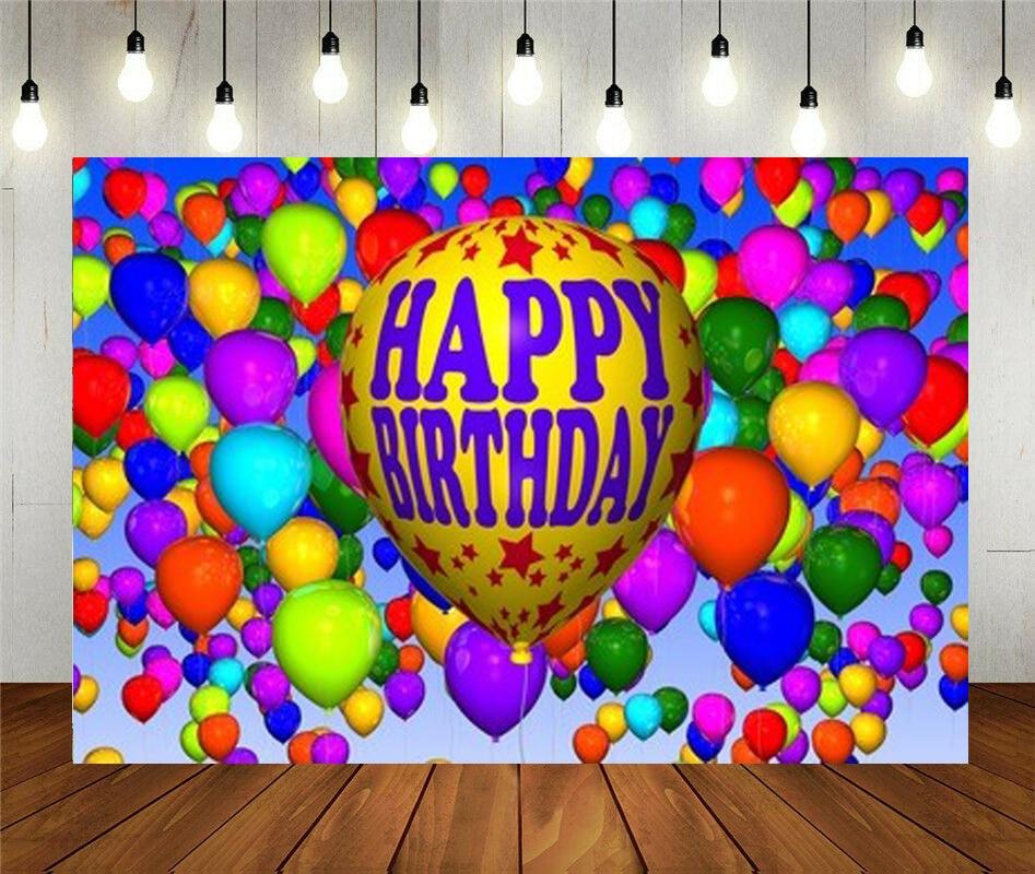 Цветной Виниловый фон для фотосъемки в честь Дня Рождения с изображением конфет