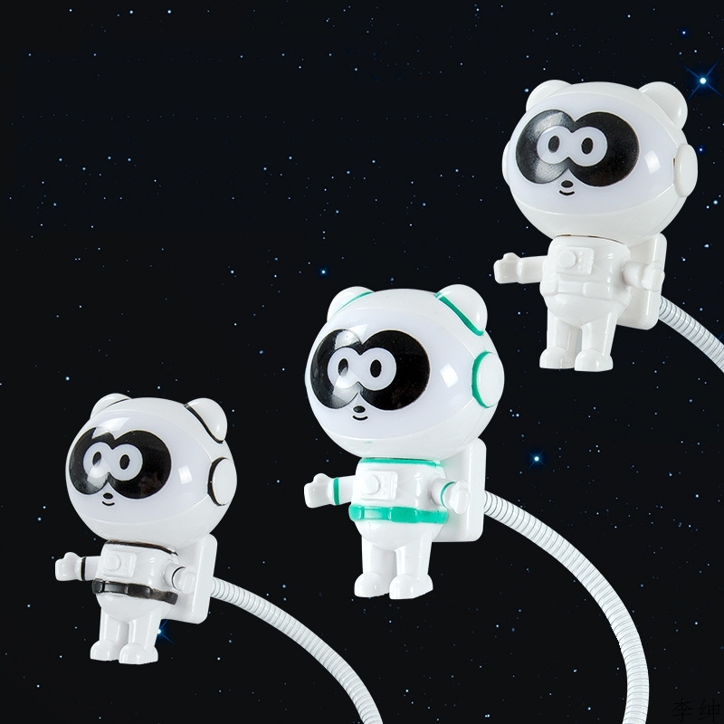 Novel LED Astronaut Panda Night Light New USB Spaceman LED Night Lamp For Computer PC Astronaut Computer Read Gift Luminaires