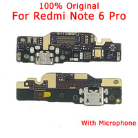 Original Spare Parts for Xiaomi Redmi Note 6 Pro Charging Port USB Charger Board for Redmi Note 6 Pro Dork Connector Flex Cable