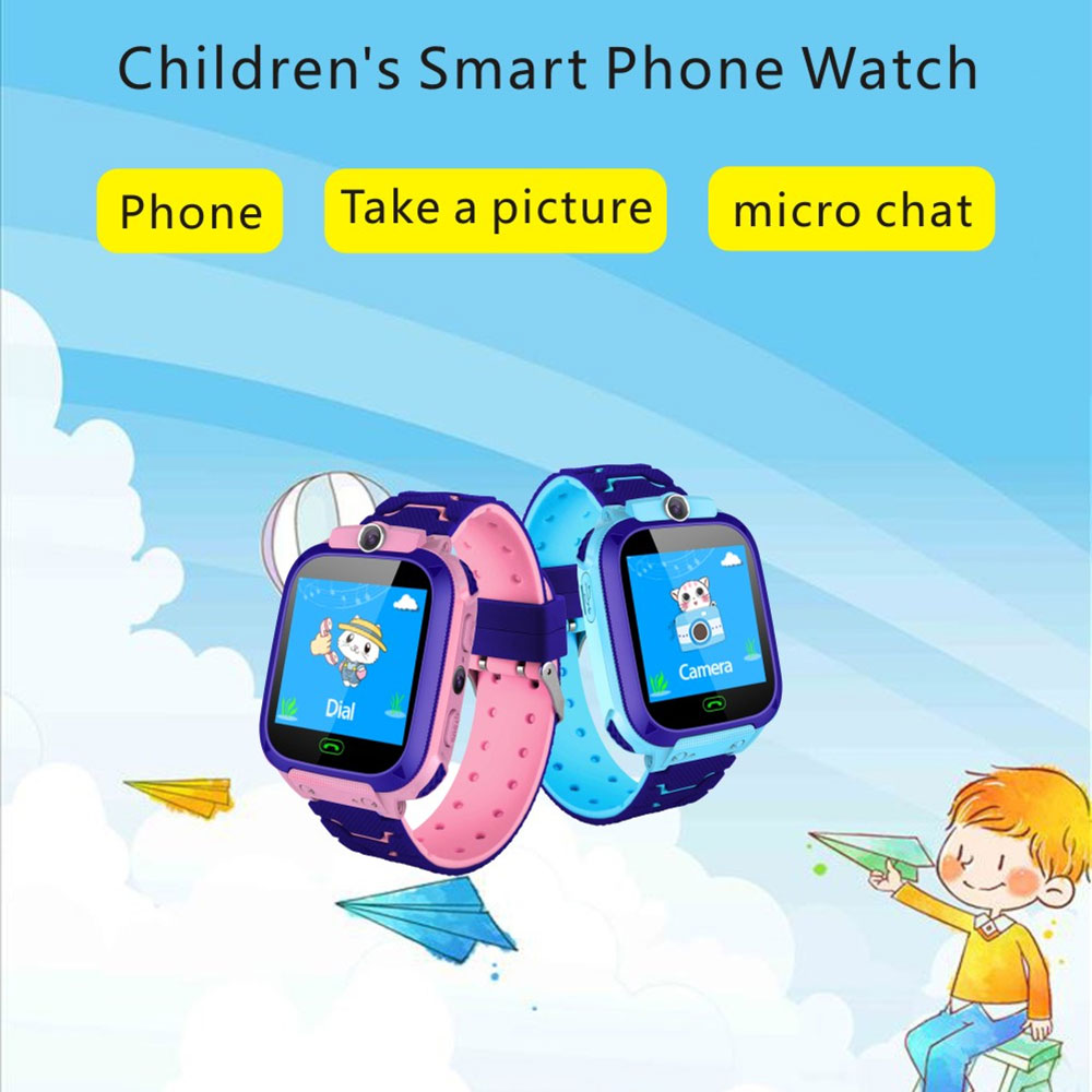 Anti Lost S12 Kids smart Watch kids OLED Child kids Tracker SOS Monitoring Positioning baby watch Compatible IOS & Android
