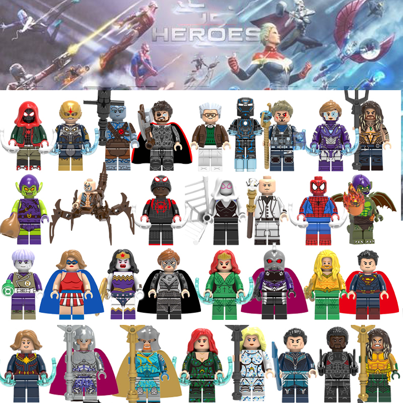 Super Heroes Technic Figure Toys Building Blocks Avengers Iron Man Venom Justice League X-Men Batman Bricks Toys For Children