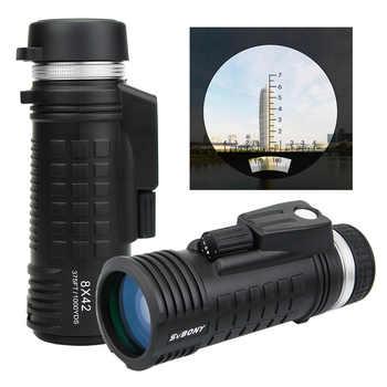 SVBONY 8x42 Monocular Telescope Built-in Compass Rangefinder Fully Multi-coating BAK4 Prism Waterproof Hunting Binoculars F9335 - DISCOUNT ITEM  43 OFF Sports & Entertainment
