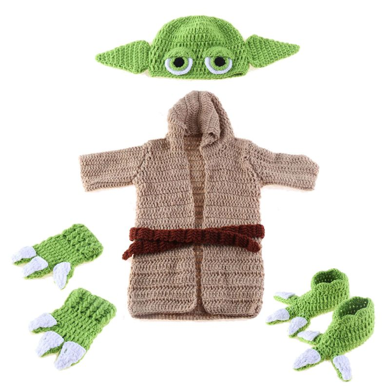 Newborn Crochet Knit Costume Prop Outfits Photo Photography Baby Hat Photo Props G99C