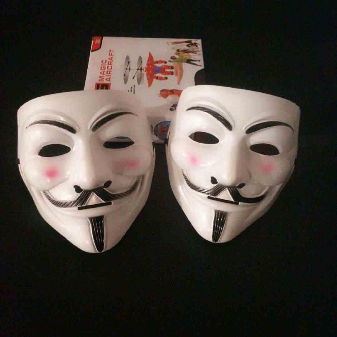 Masques d'halloween V pour Vendetta, déguisement Guy Fawkes et anonyme, Costume de Cosplay