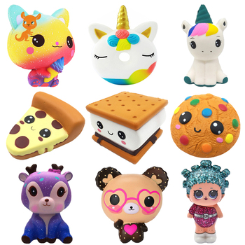 Jumbo Chocolate Biscuits Cheese Cute Squishy Slow Rising Soft Squeeze Toy Phone Strap Scented Relieve Stress Funny Kid Xmas Gift jumbo kawaii chocolate biscuit squishy soft squeeze toy simulation bread cake scented slow rising anti stress fun for kid gift