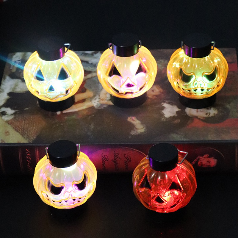 Practical Portable LED Pumpkin Lantern Colorful Lighting Night Light Table Lamp For Halloween Holiday Party Decor New