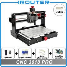 CNC3018Pro withER11 ، لتقوم بها بنفسك آلة حفر صغيرة باستخدام الحاسب الآلي ، النقش بالليزر ، Pcb آلة طحن بولي كلوريد الفينيل ، جهاز توجيه الخشب ، نك الليزر ، نك 3018 برو