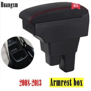 Centre Console Storage Box Armrest For Honda Fit Jazz 2008-2013 Arm Rest 2009 2010 2011 2012(China)