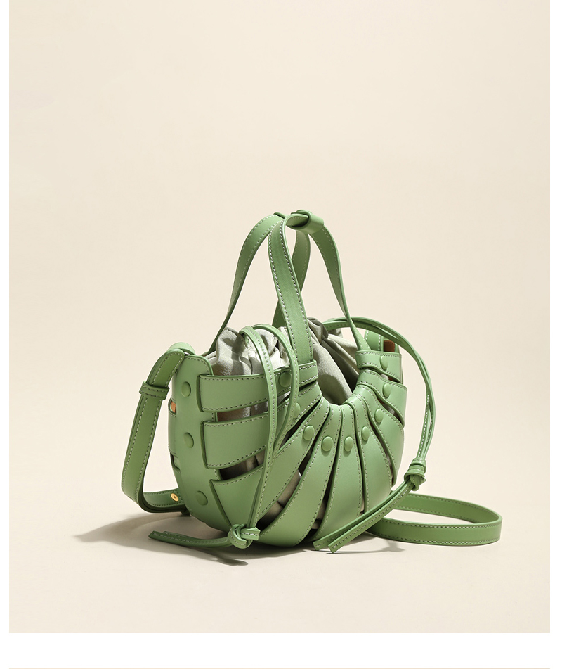 concha estilo férias das mulheres cesta vegetal