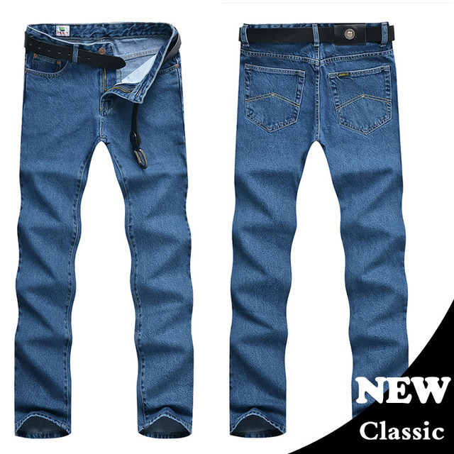Men Business Jeans Classic Spring    5