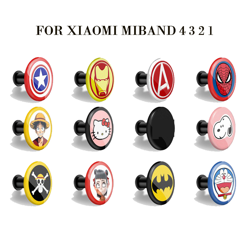 For Xiaomi Miband 4 Strap Mi Band 4 3 2 1 Strap Buckle Pattern Button Bracelet For Watch Band Miband 4 Special  Wrist Strap