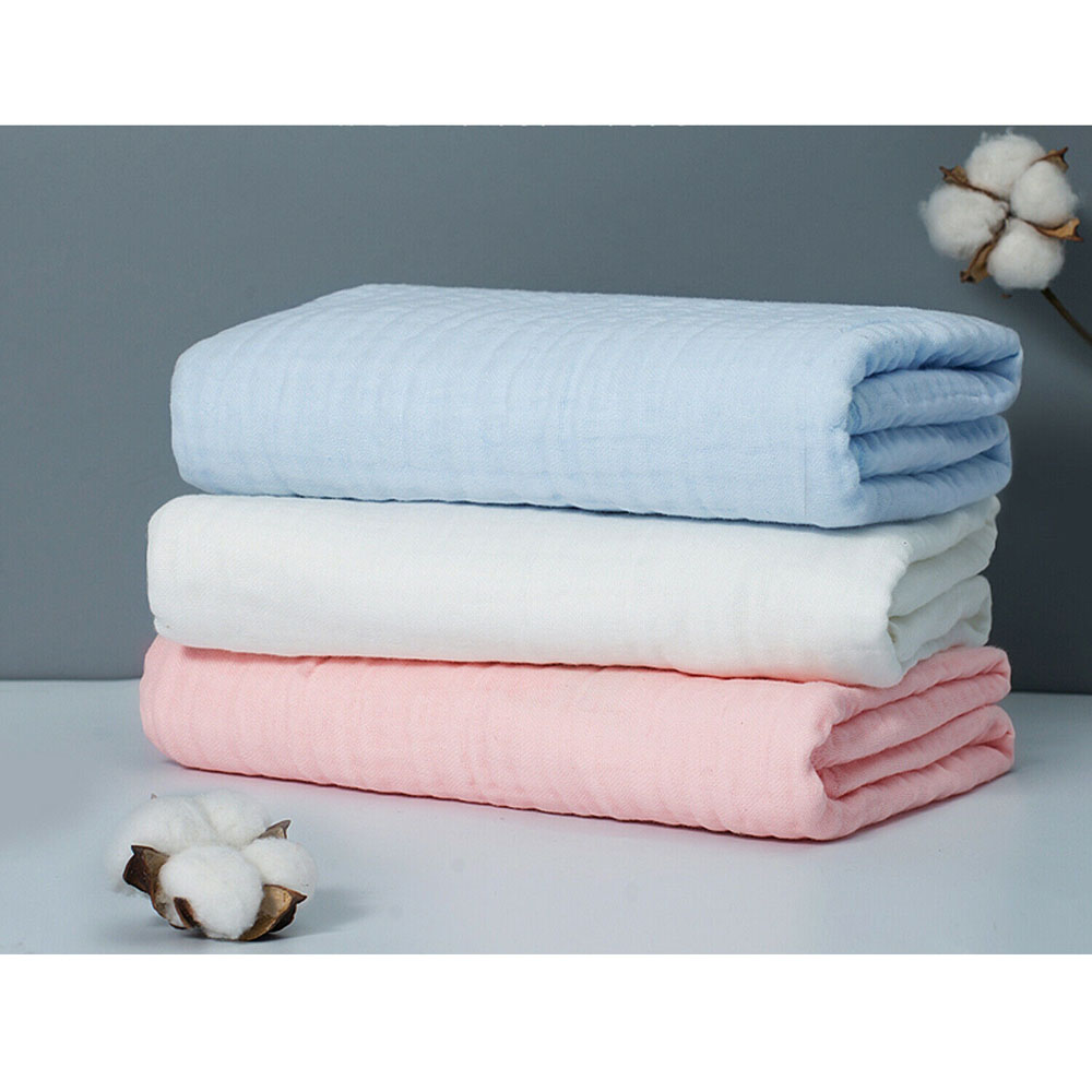 100cm*145cm Soft Solid Cotton Gauze Fabric Double Layer Cloth DIY Sewing Making