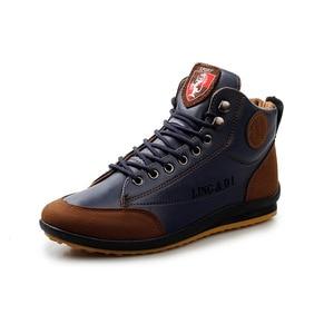 Image 2 - גברים של מגפי אביב ובסתיו חורף נעלי גדול גודל B מחלקת Botas Hombre עור מגפי נעלי סניקרס מגפי גברים נעליים