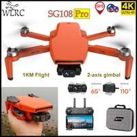 WLRC-Dron SG108 Pro/SG108 4K Dual HD 2 ejes cardán cámara profesional 28 minutos vuelo plegable Quadcopter regalos juguetes VS S3