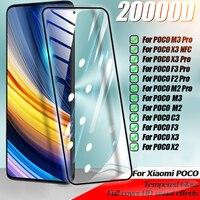Volle Abdeckung Gehärtetem glas Screen Protector Film Für Xiaomi Mi 11 Lite 8 9 10 9T Pro A2 A3 poco M2 M3 X3 F3 F2 Pro X3 NFC C3 Film
