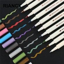 10 цветов STA металлический маркер, школьные товары для рукоделия, скрапбукинга, ремесла, мягкая кисть, ручка, перманентные канцелярские принадлежности 04312