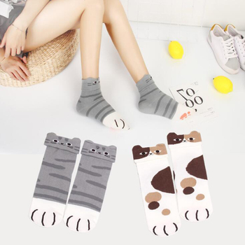 Cute Cat Paw Socks For Women Animal Claw Girls Cotton Warm Funny Sleeping  Home Floor Calcetines