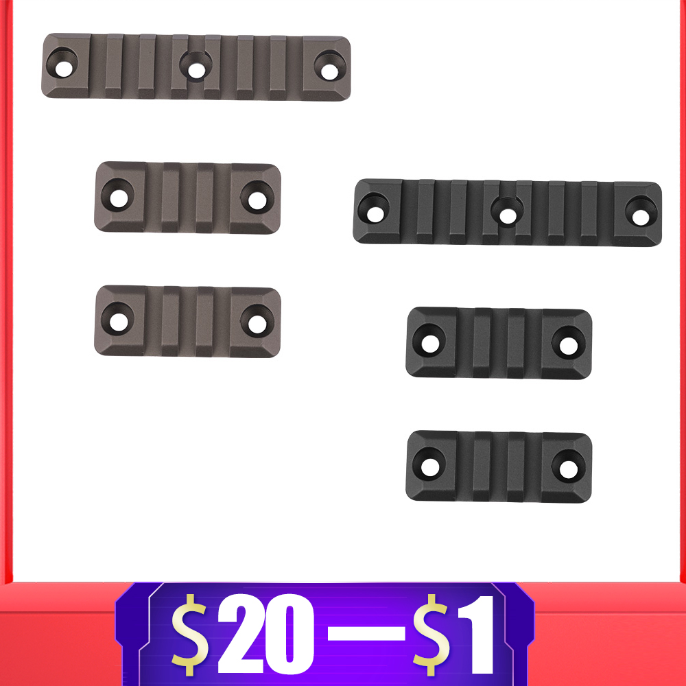 3 Pieces Aluminum Set 3/7 Slot For HK416 Gel Blaster M4 Handguard Rail For Picatinny Rail Mount Handguard Section Accessories