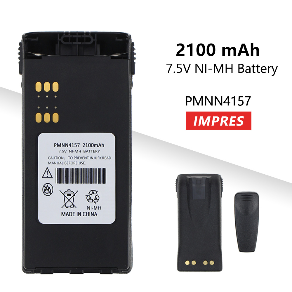 2100mAh ATEX Series Rechargeable NI-MH Battery PMNN4157 For Atex Portable Two-way Radio GP328 GP338 PTX760 PTX700 MTX8250