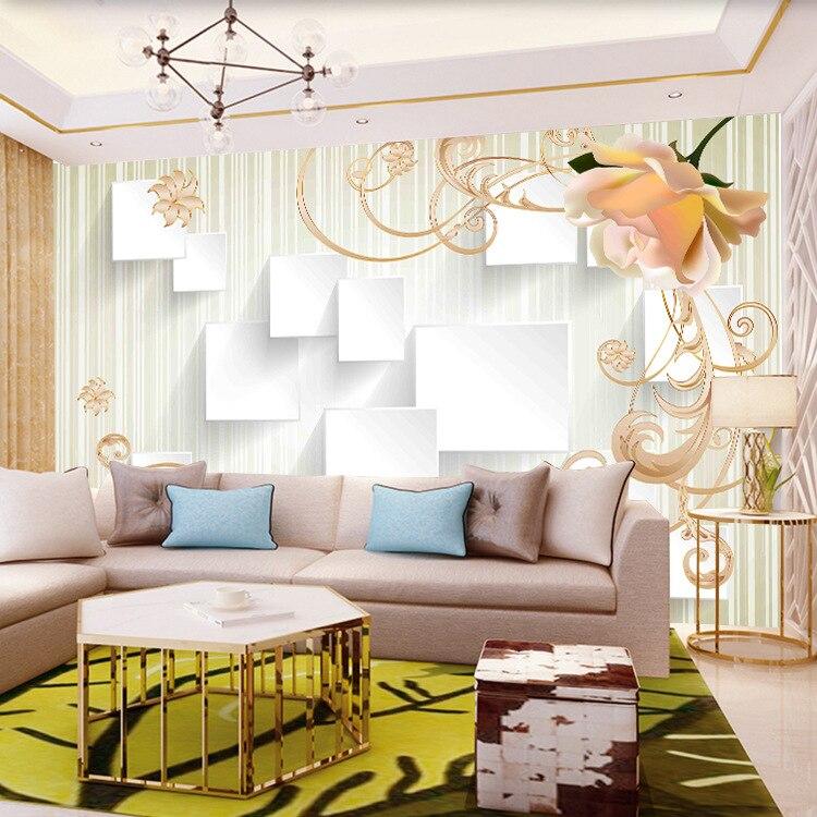 European Style 3D Jade Relief Flower Wall Cloth 5D Bump Living Room Sofa TV Background Wallpaper Seamless Mural
